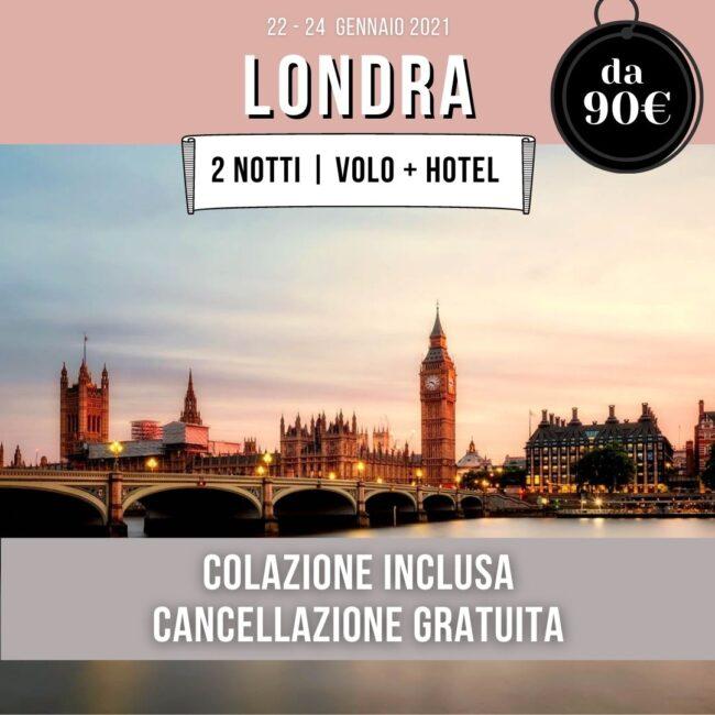 offerta Londra 2021 volo hotel