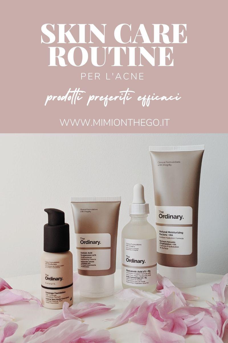skin care routine acne
